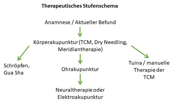Therapeutsisches Stufenschema - Heilpraktiker Freystaetter - Anwendung verschiedener Therapiemethoden